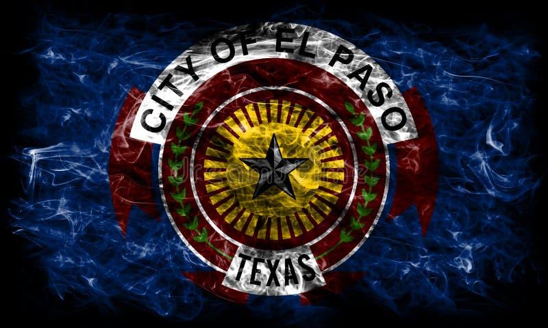 Флаг задымления городов Эль-Пасо, положение Техаса, Соединенные Штаты Америки иллюстрация вектора