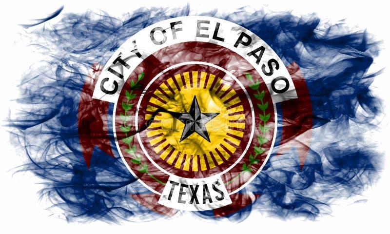 Флаг задымления городов Эль-Пасо, положение Техаса, Соединенные Штаты Америки иллюстрация штока