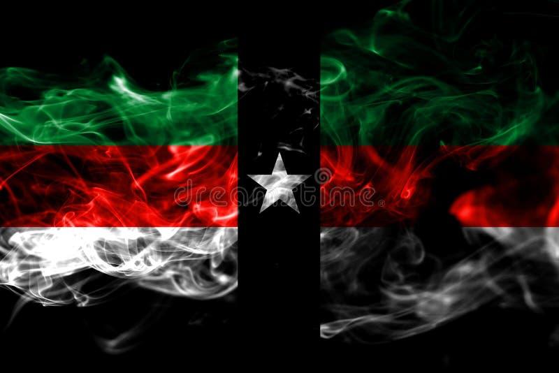 Флаг задымления городов Denison, положение Техаса, Соединенные Штаты Америки иллюстрация вектора