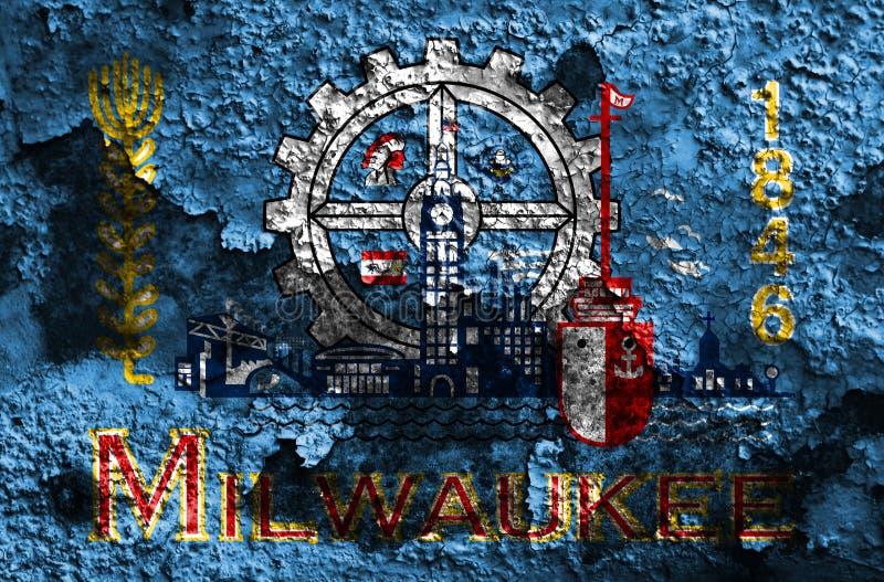 Флаг задымления городов Milwaukee, положение Висконсина, Соединенные Штаты Америки бесплатная иллюстрация