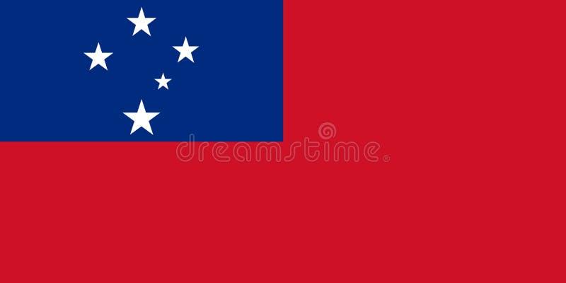 Флаг Западного Самоа стоковое фото
