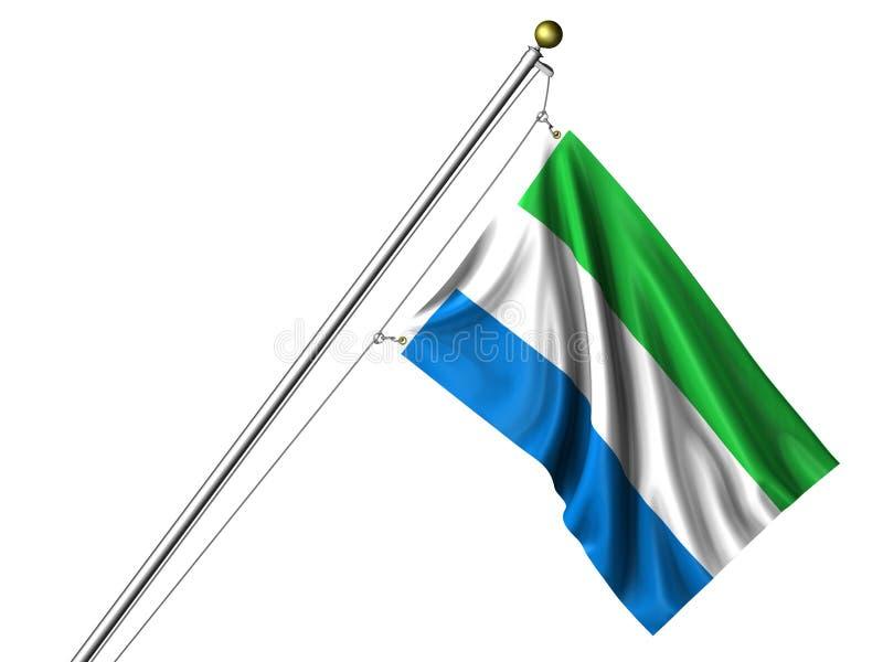 флаг изолировал leonean Сьерру бесплатная иллюстрация