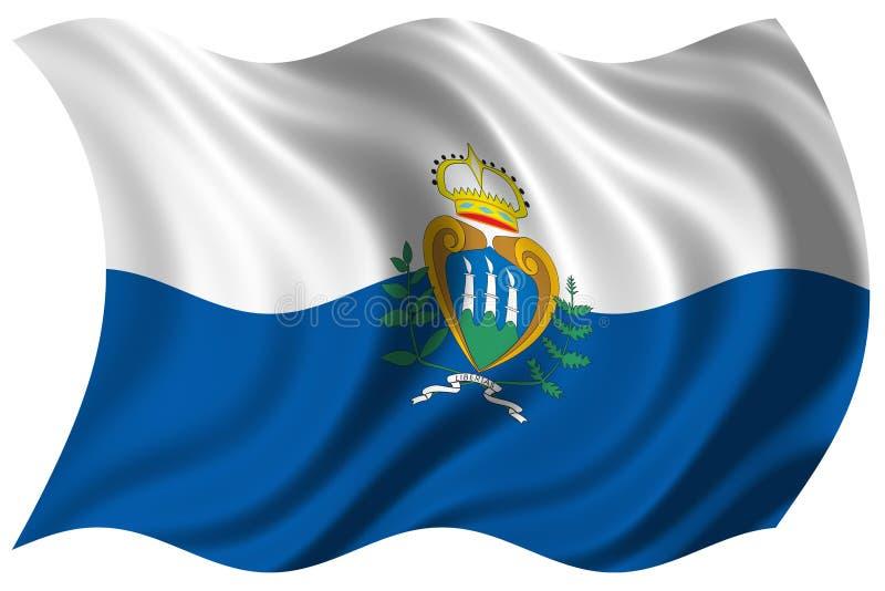 флаг изолировал marino san стоковая фотография