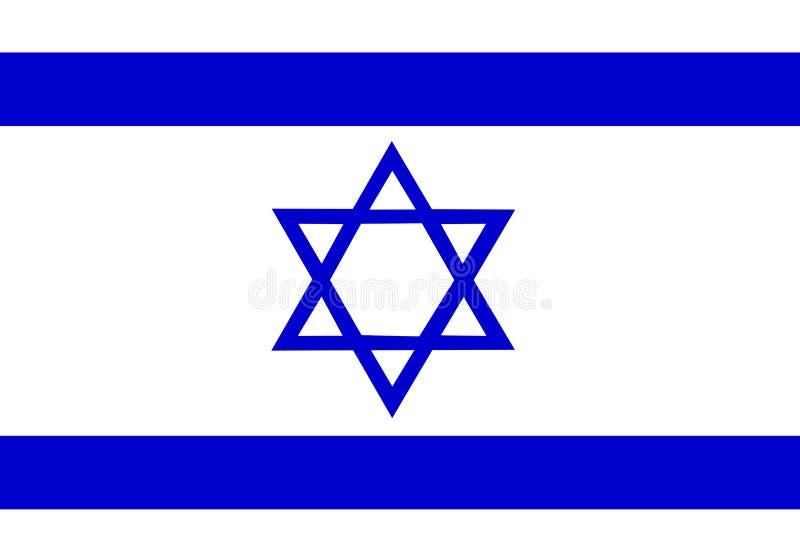 флаг Израиль иллюстрация вектора