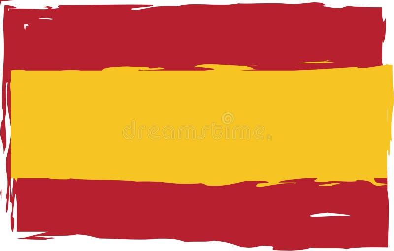 Флаг или знамя ИСПАНИИ Grunge иллюстрация штока