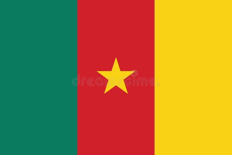 Флаг иллюстрации вектора Камеруна иллюстрация вектора
