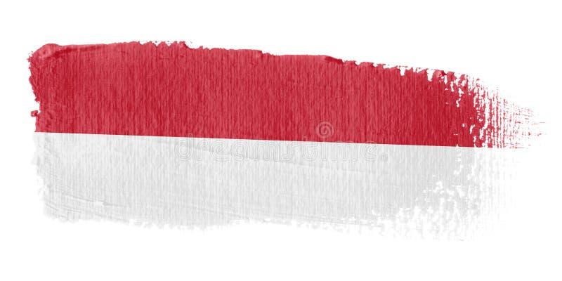 флаг Индонесия brushstroke бесплатная иллюстрация