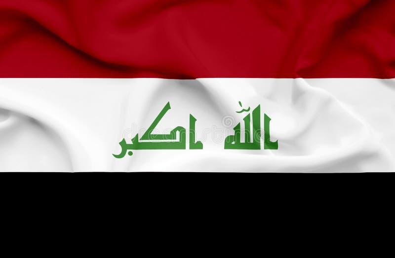 Флаг Ирака развевая иллюстрация штока
