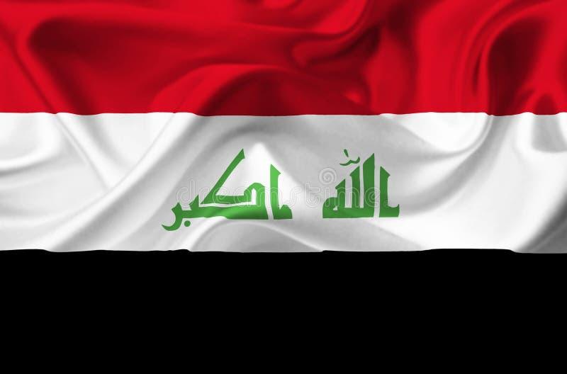 Флаг Ирака развевая бесплатная иллюстрация
