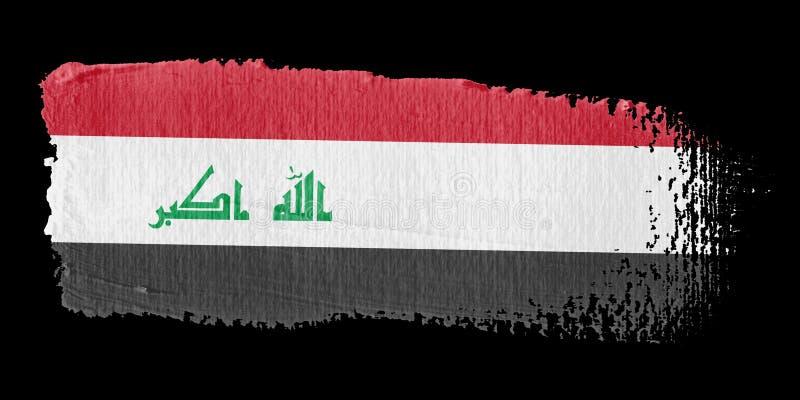 флаг Ирак brushstroke иллюстрация вектора