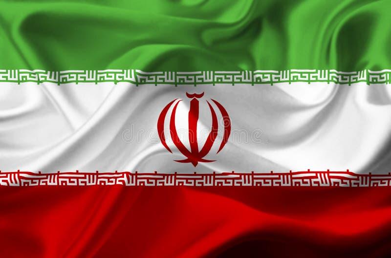 Флаг Ирана развевая бесплатная иллюстрация