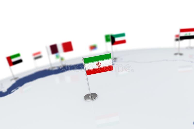 флаг Иран бесплатная иллюстрация