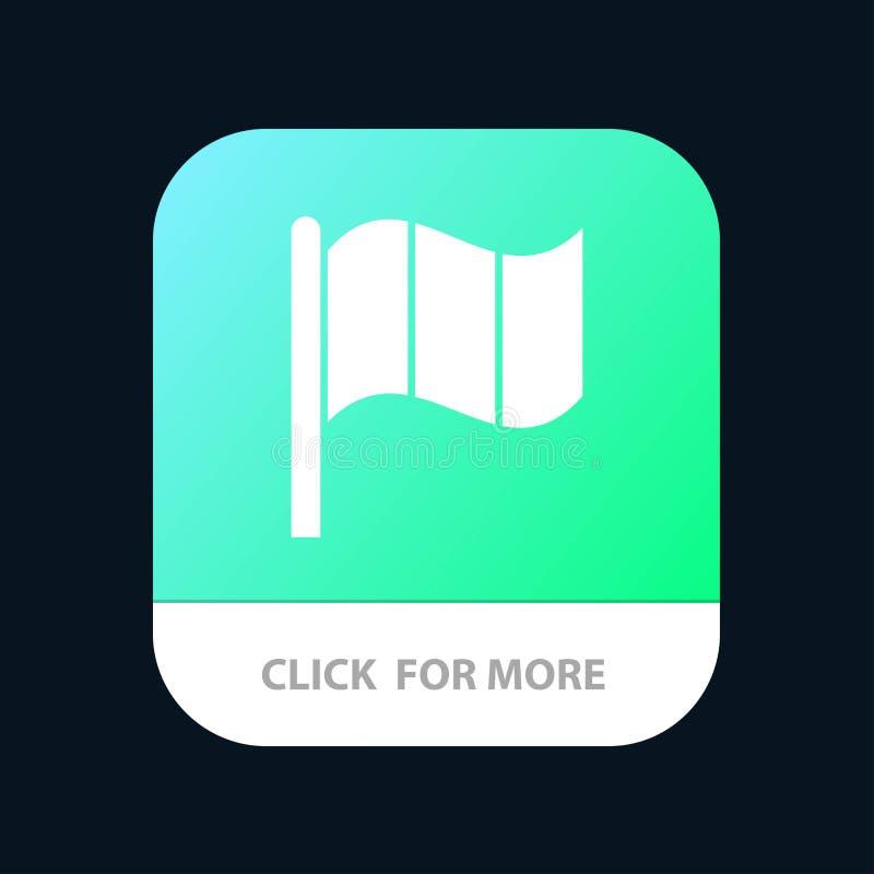 Флаг, Ирландия, ирландская мобильная кнопка приложения Андроид и глиф IOS версия бесплатная иллюстрация