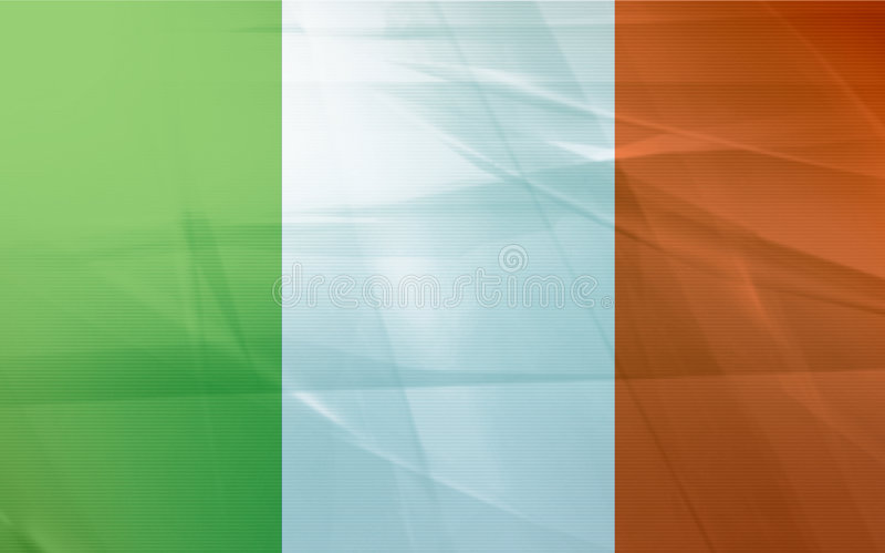 флаг Ирландия иллюстрация вектора