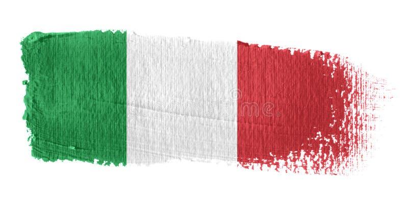 флаг Италия brushstroke иллюстрация штока