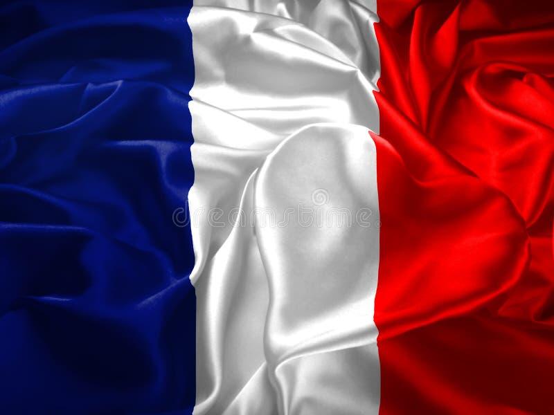 Флаг и сердце Франции иллюстрация вектора