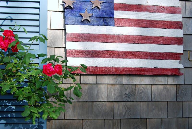 Флаг и цветки стоковое фото
