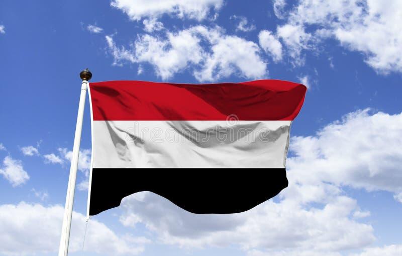 Флаг Йемен, унифицированного севера и юга стоковое изображение
