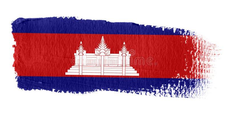 флаг Камбоджи brushstroke иллюстрация штока