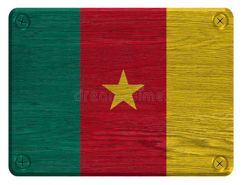 Флаг Камеруна стоковая фотография rf