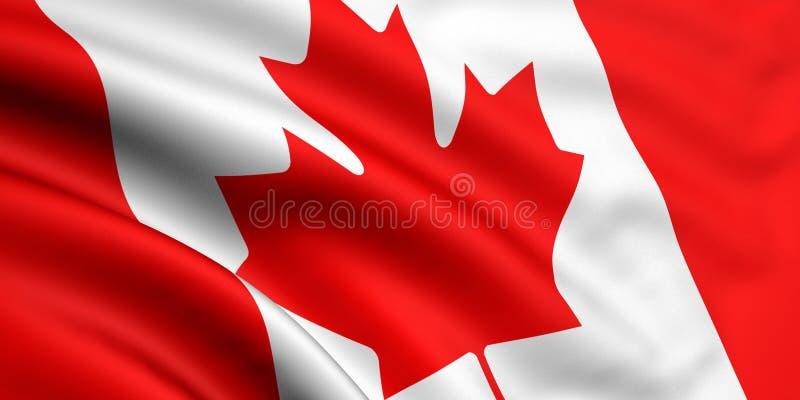 флаг Канады иллюстрация штока
