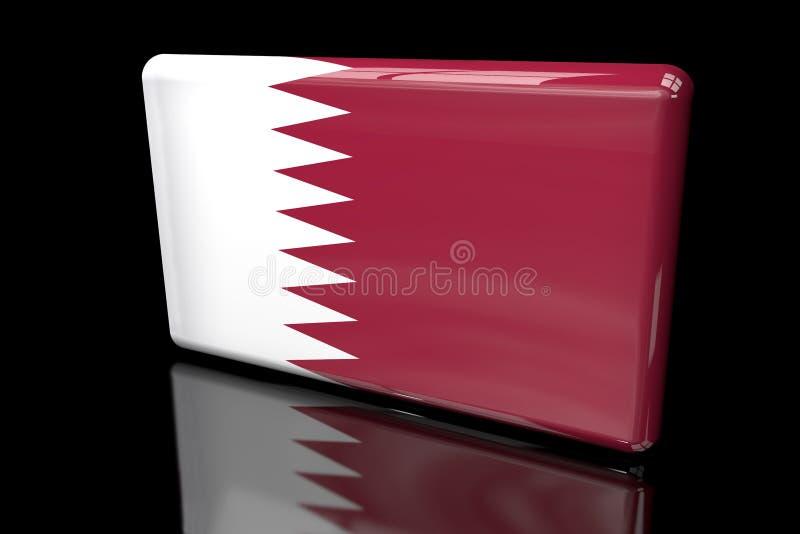 Флаг Катара 3D объемного иллюстрация штока