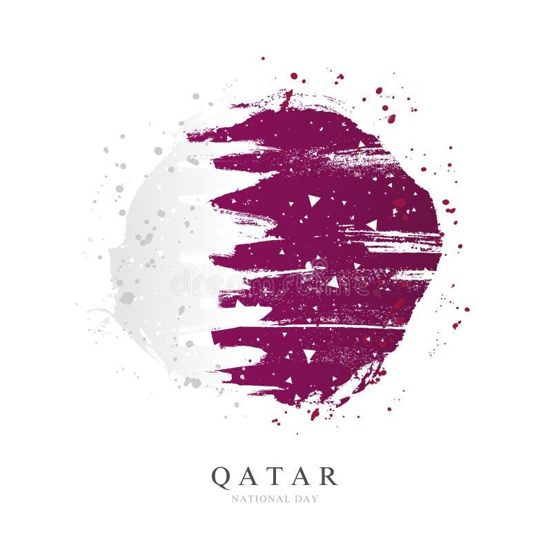 Флаг катарца в форме большого круга r иллюстрация вектора