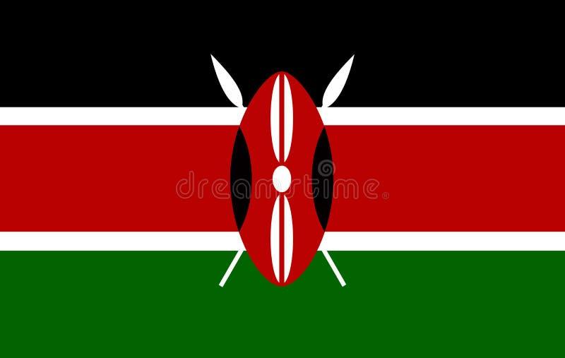 Флаг Кении вектора, иллюстрация флага Кении иллюстрация вектора