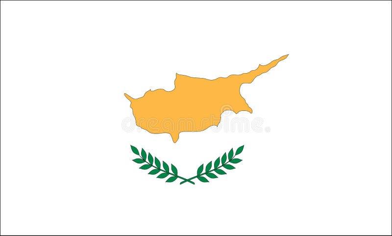 флаг Кипра иллюстрация штока