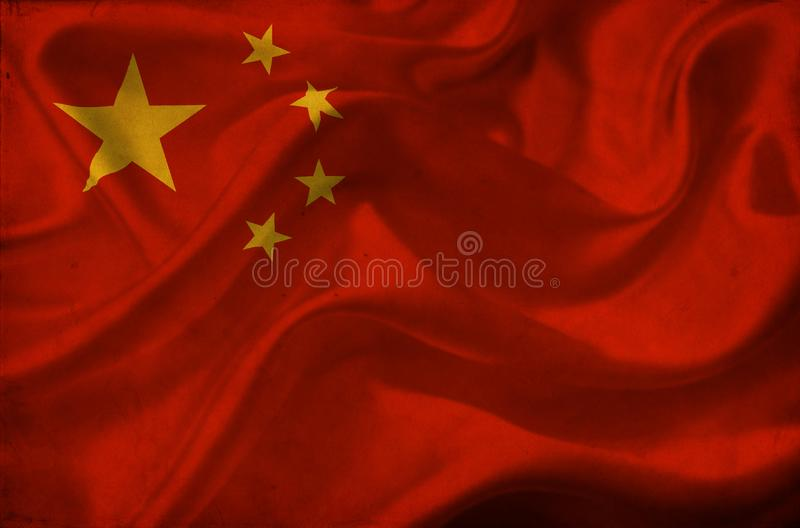 Флаг Китая развевая стоковое фото