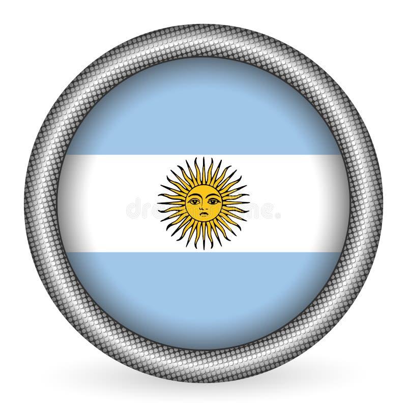 флаг кнопки Аргентины иллюстрация вектора