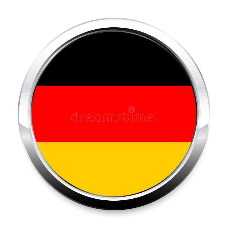 Флаг кнопки Германии в круглой рамке хрома металла бесплатная иллюстрация