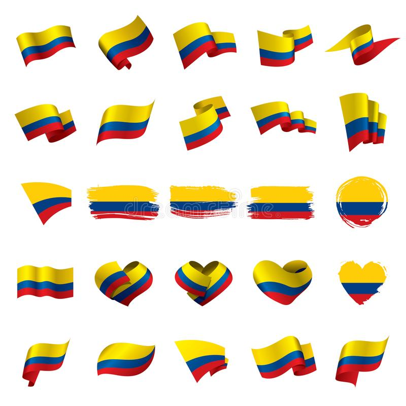 Флаг Колумбии, иллюстрация вектора иллюстрация штока