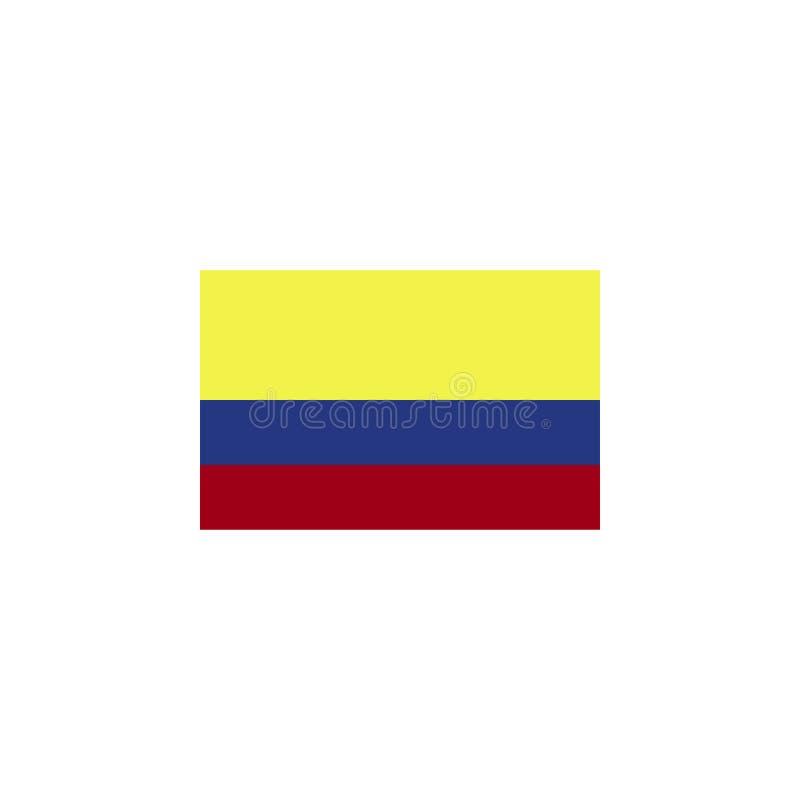 флаг Колумбии покрасил значок Элементы значка иллюстрации флагов Знаки и символы можно использовать для сети, логотипа, мобильног иллюстрация штока