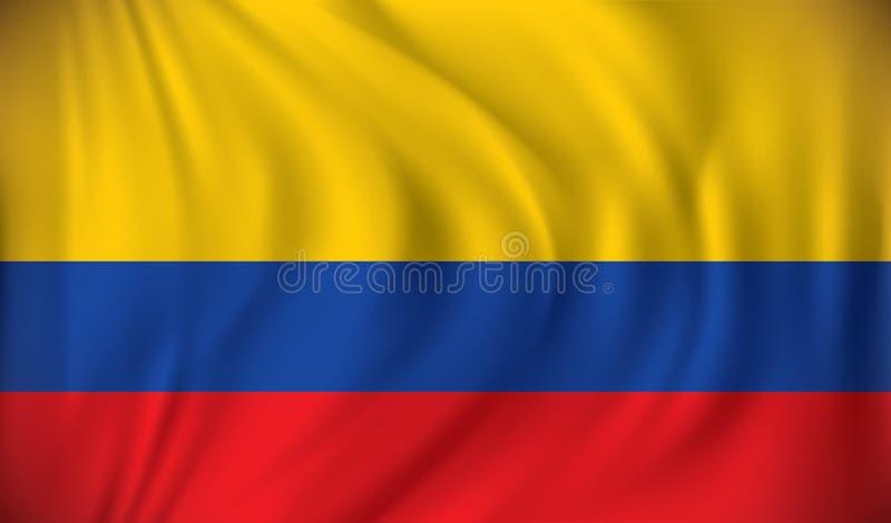 флаг Колумбии иллюстрация штока