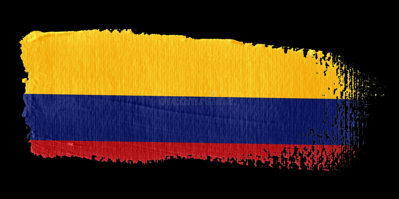 флаг Колумбии brushstroke бесплатная иллюстрация