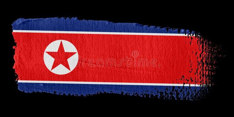 флаг Корея brushstroke северная бесплатная иллюстрация