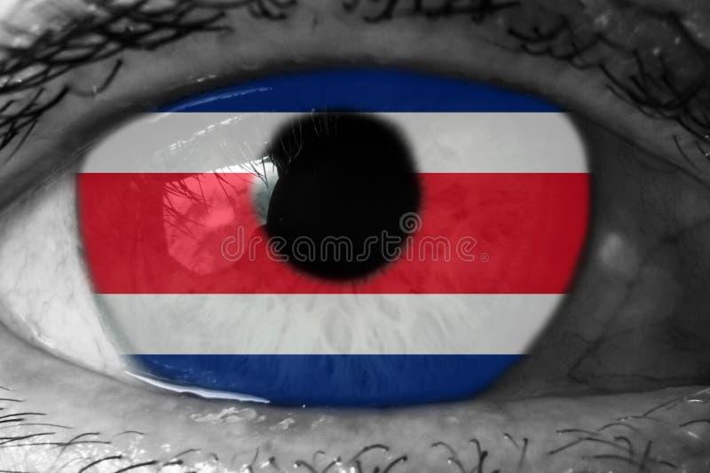 Флаг Коста-Рика в глазе стоковые изображения rf