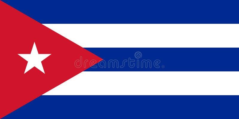 Флаг Кубы в официальных цветах и с коэффициентом сжатия 1:2 бесплатная иллюстрация