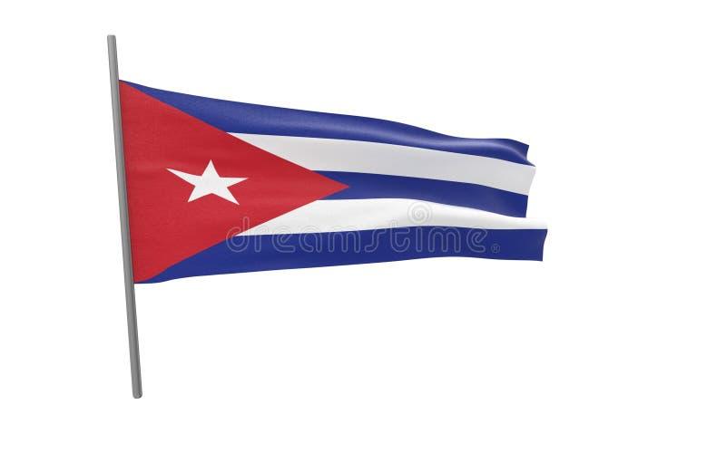 Флаг Кубы иллюстрация вектора