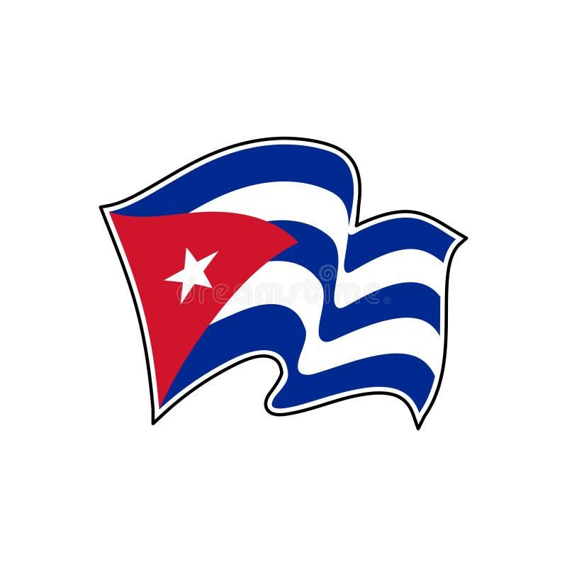 Флаг Кубы r havana иллюстрация вектора