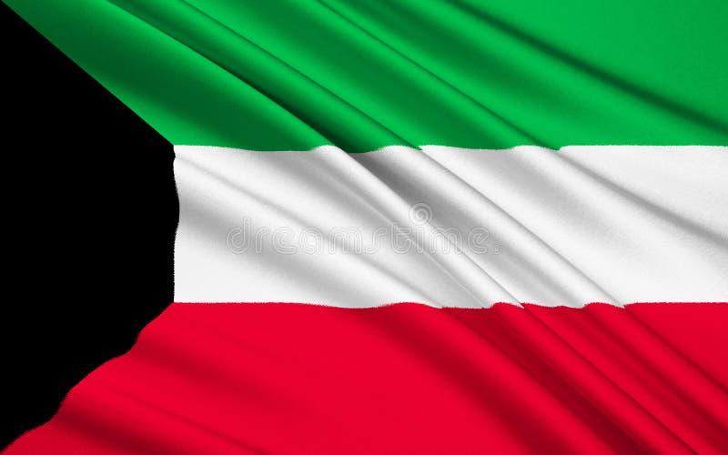 флаг Кувейт стоковая фотография rf