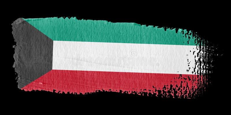 флаг Кувейт brushstroke иллюстрация вектора