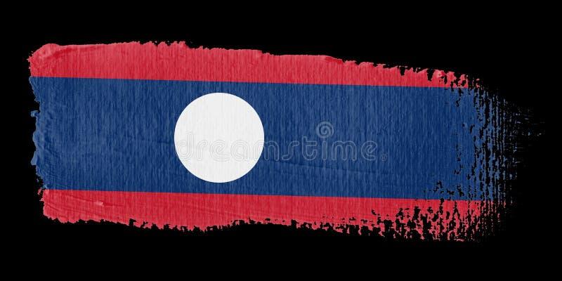 флаг Лаос brushstroke иллюстрация вектора