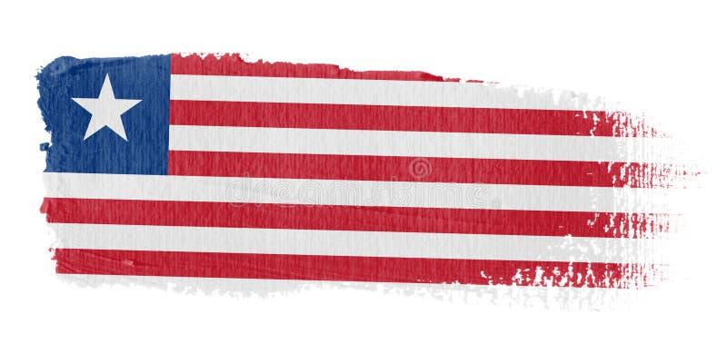 флаг Либерия brushstroke бесплатная иллюстрация