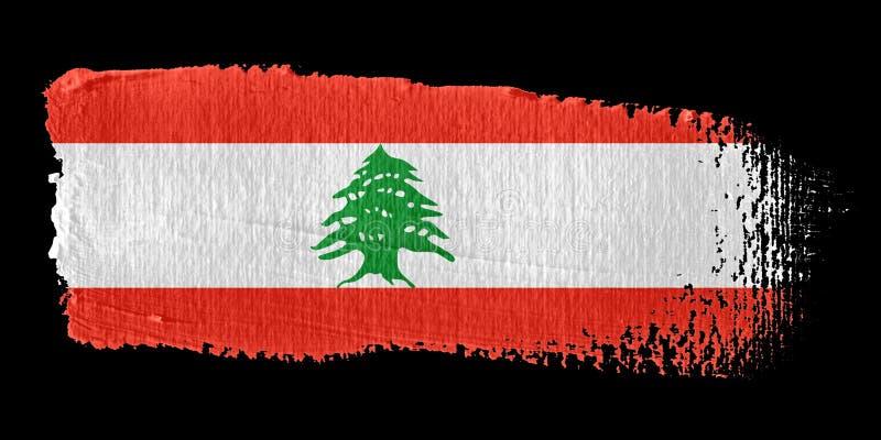 флаг Ливан brushstroke иллюстрация штока