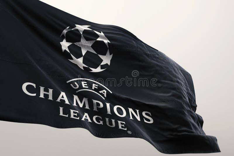 Флаг лиги чемпионов иллюстрация штока