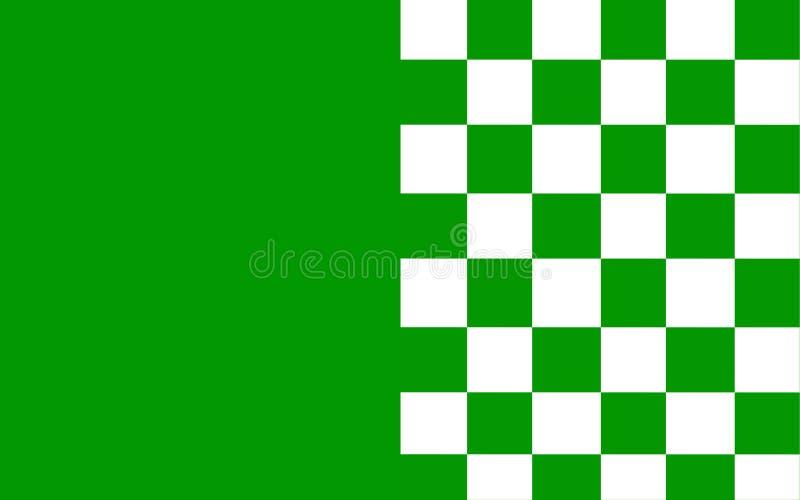 Флаг лимерика графства графство в Ирландии иллюстрация вектора