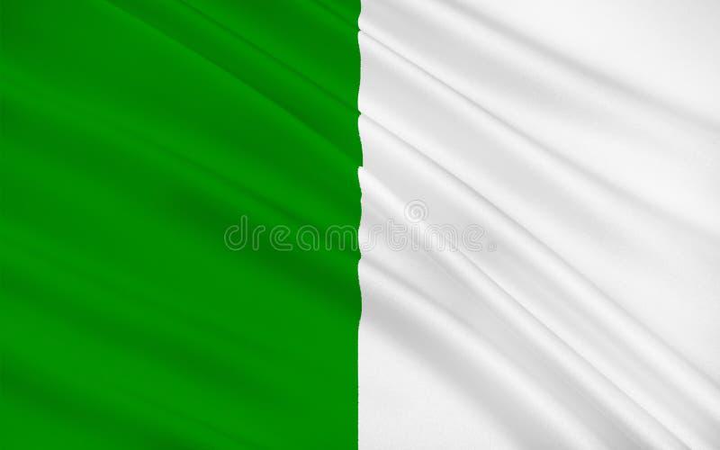Флаг лимерика графства графство в Ирландии иллюстрация штока