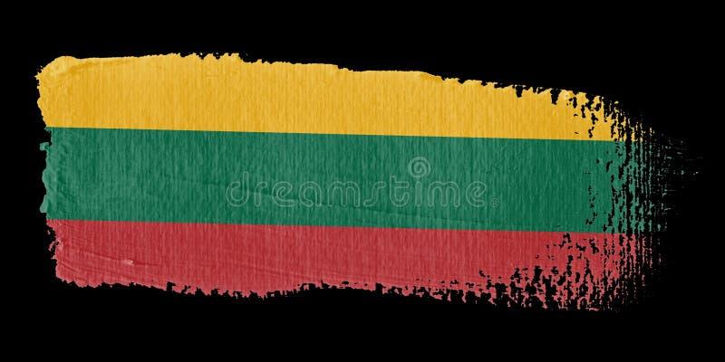 флаг Литва brushstroke бесплатная иллюстрация